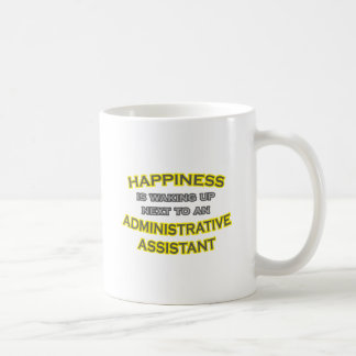 Felicidad. El despertar. Asst administrativo Taza Básica Blanca