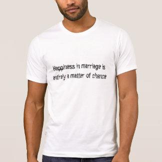 Felicidad en boda/la ocasión camiseta
