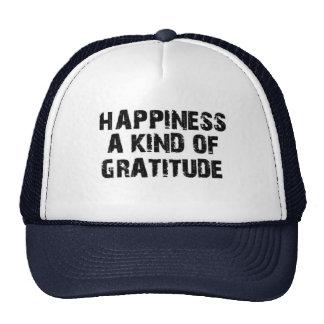 FELICIDAD una clase de GRATITUD (gorra de la Gorros Bordados