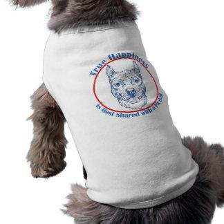 Felicidad verdadera con un pitbull camisetas de mascota