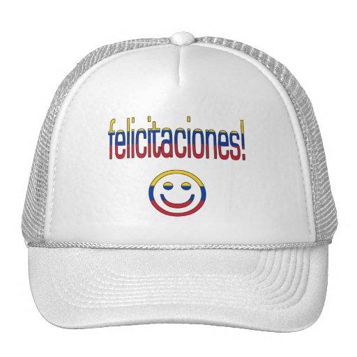 ¡Felicitaciones! Colores de la bandera de Venezuel Gorros