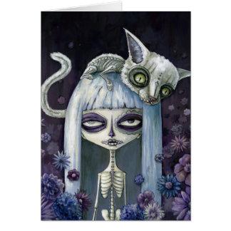 Felina de los muertos tarjetas