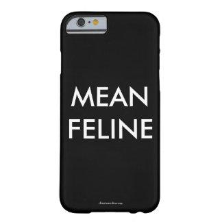 Felino malo funda para iPhone 6 barely there