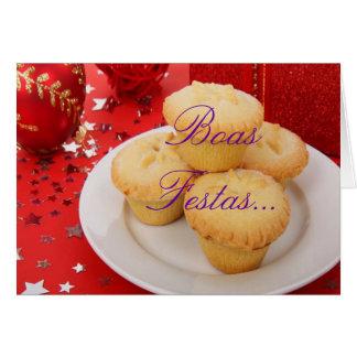 Feliz Ano Novo de Festas e de las boas del navidad Tarjeta De Felicitación