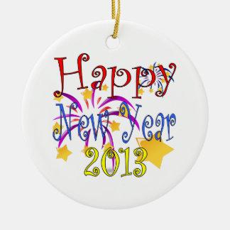 Feliz Año Nuevo 2013 Adorno Redondo De Cerámica
