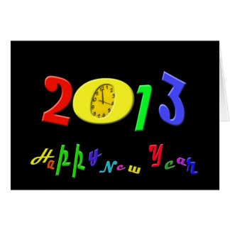 Feliz Año Nuevo 2013 Tarjeta De Felicitación