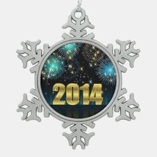 Feliz Año Nuevo 2014 del ornamento Adorno