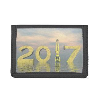 Feliz Año Nuevo 2017 del zen - 3D rinden