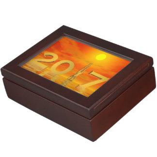 Feliz Año Nuevo 2017 del zen - 3D rinden Caja De Recuerdos