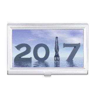 Feliz Año Nuevo 2017 del zen - 3D rinden Caja Para Tarjetas De Visita