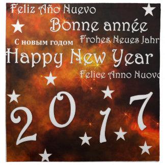 Feliz Año Nuevo 2017 Servilleta