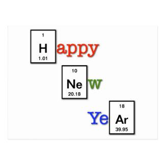 Feliz Año Nuevo a sus amigos del químico Postal
