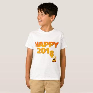Feliz Año Nuevo camiseta del niño de 2018 vísperas