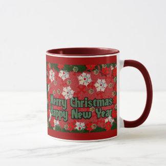 Feliz Año Nuevo de las Felices Navidad Taza