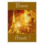 Feliz año nuevo de París Tarjeta De Felicitación