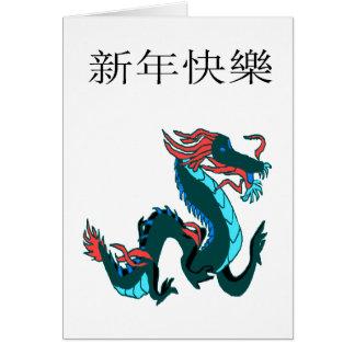 Feliz Año Nuevo del dragón Felicitaciones