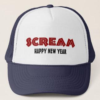Feliz Año Nuevo del grito del gorra