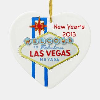Feliz Año Nuevo en Las Vegas Adornos