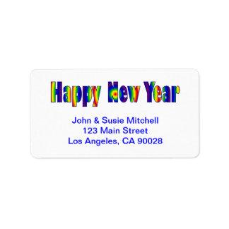 Feliz Año Nuevo Etiqueta De Dirección