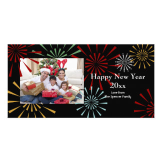 Feliz Año Nuevo Photocards Tarjeta