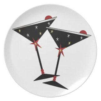 ¡Feliz Año Nuevo! Placa 3 Plato De Cena