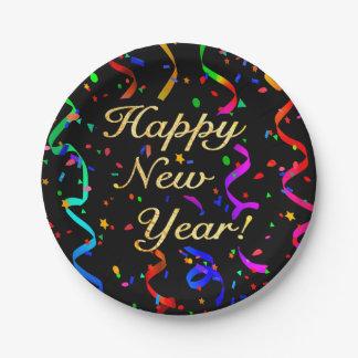 """¡""""Feliz Año Nuevo! """" Plato De Papel"""