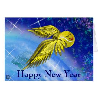 Feliz Año Nuevo por satélite del tenis Tarjeta De Felicitación