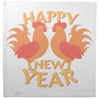 Feliz Año Nuevo Servilleta De Tela