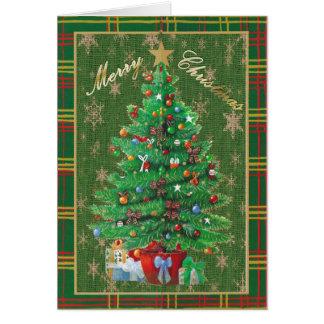 Feliz árbol de navidad personalizado de la tarjetas