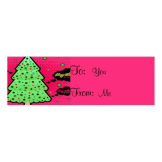 Feliz árbol de navidad plantillas de tarjeta de negocio