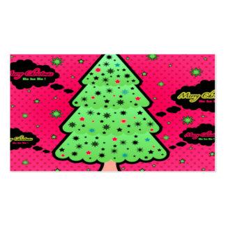 Feliz árbol de navidad tarjeta personal