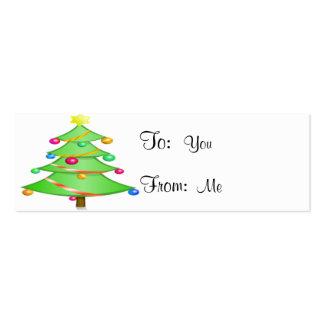 Feliz árbol de navidad tarjetas de visita mini