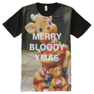 Feliz camiseta sangrienta del personalizable de la