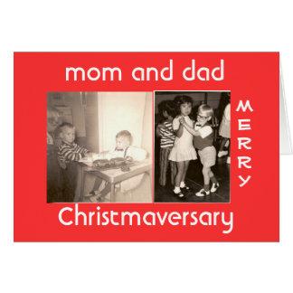 Feliz Christmaversary Tarjeta