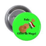 ¡Feliz Cinco de Mayo! Chapa Redonda De 5 Cm