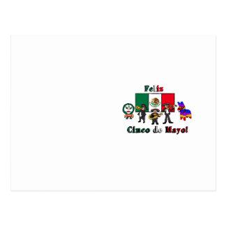 ¡Feliz Cinco de Mayo! Ejemplo del dibujo animado Postal
