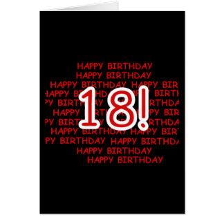Feliz cumpleaños 18 tarjeta de felicitación