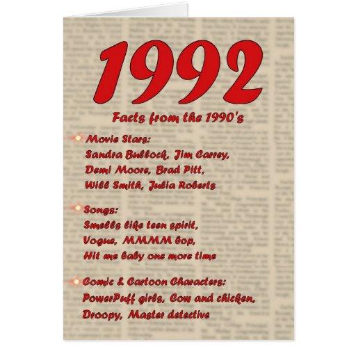 Feliz cumpleaños 1992 años de los años 90 90s de l felicitaciones