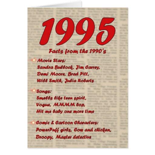 Feliz cumpleaños 1995 años de los años 90 90s de l tarjeton
