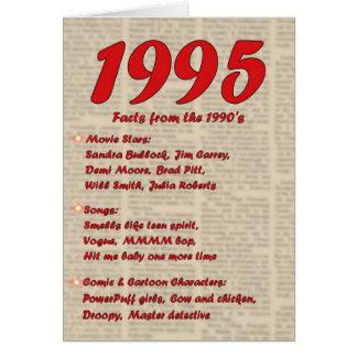 Feliz cumpleaños 1995 años de los años 90 90s de tarjeta de felicitación
