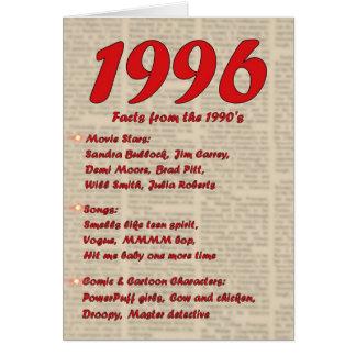 Feliz cumpleaños 1996 años de los años 90 90s de l tarjetas