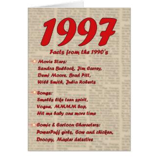 Feliz cumpleaños 19972 años de los años 90 90s de tarjeta de felicitación