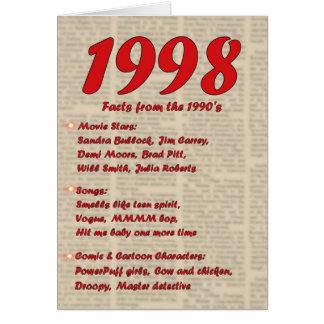 Feliz cumpleaños 1998 años de los años 90 90s de tarjeta de felicitación