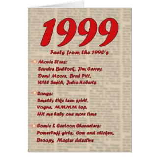 Feliz cumpleaños 1999 años de los años 90 90s de tarjeta de felicitación