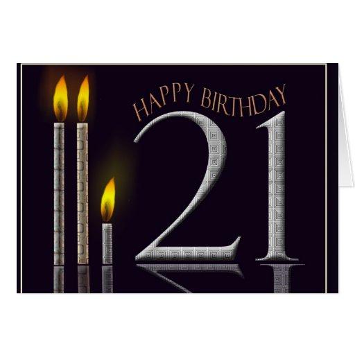 ¡Feliz cumpleaños 21! Tarjeta