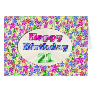 Feliz cumpleaños 21 tarjeta