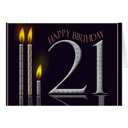 ¡Feliz cumpleaños 21! Tarjeta De Felicitación