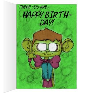 Feliz cumpleaños 2 tarjeta de felicitación
