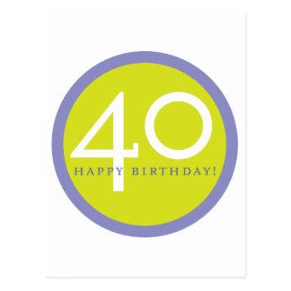¡Feliz cumpleaños, 40! Postal