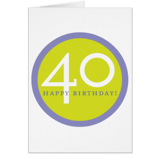 ¡Feliz cumpleaños 40 Tarjetón
